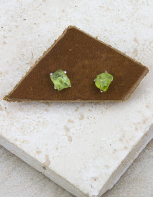Raw Beauty | Peridot Sterling Silver Posts
