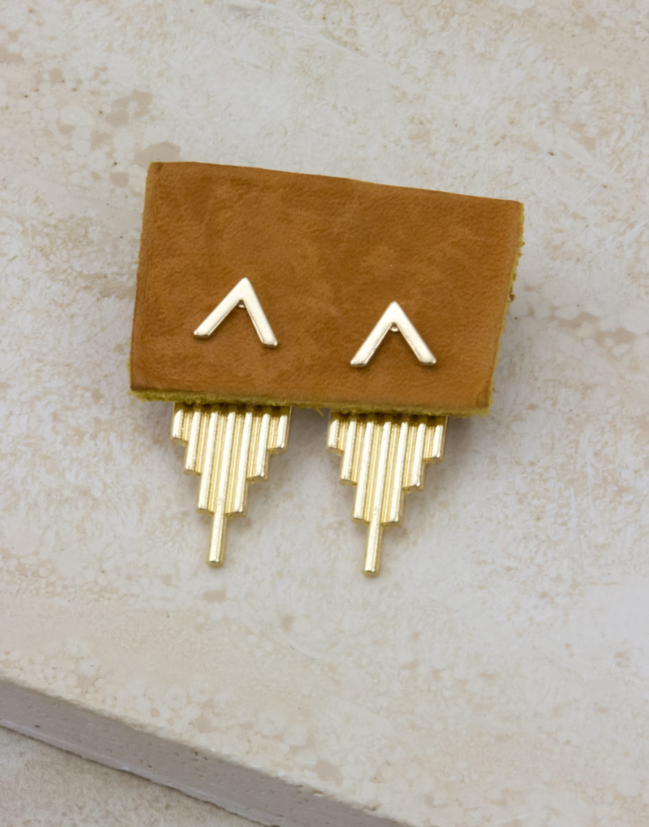 Pyramid of the Sun front/back Earrings
