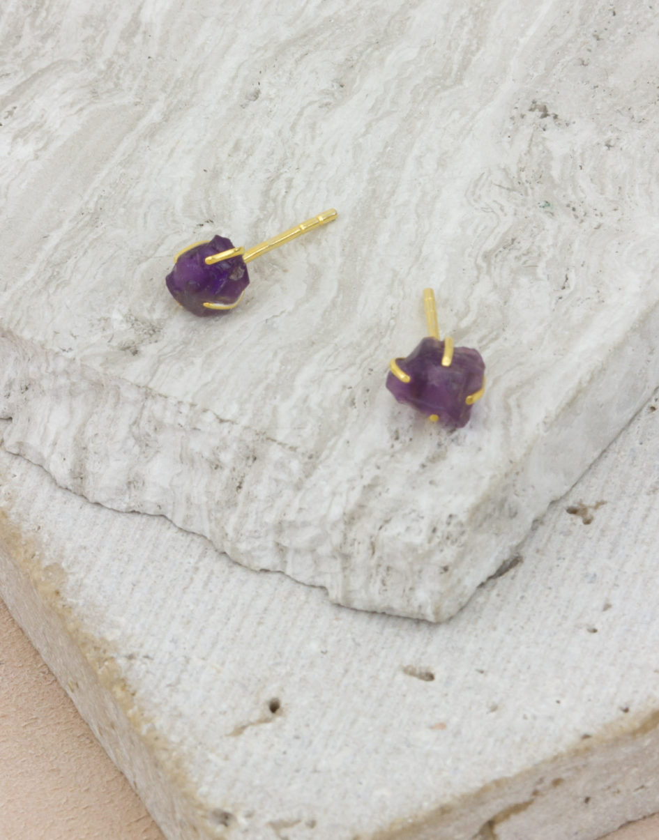 Raw Beauty | Amethyst Gold Posts