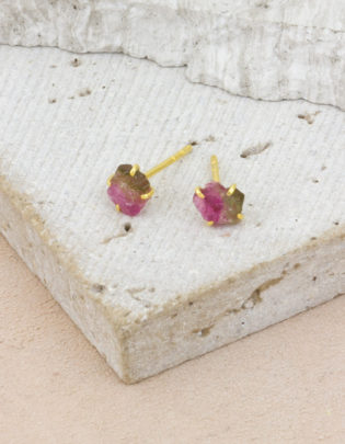 Raw Beauty | Tourmaline Gold Posts