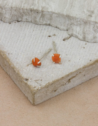 Raw Beauty | Coral Sterling Silver Posts