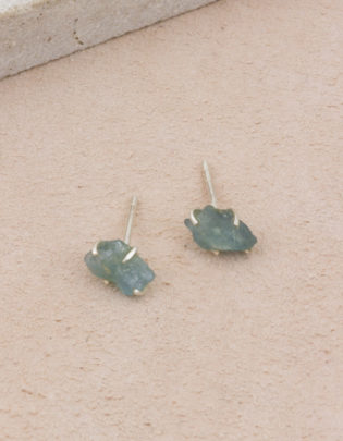 Raw Beauty | Aquamarine Sterling Silver Posts