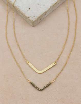 Pyrite Necklace Set