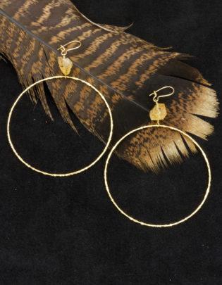 Dream BIG Citrine Earrings